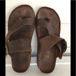 White Mountain Harley Brown Footbed Sandals